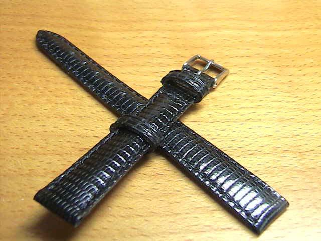 12mm時計バンド(腕時計)ベルト12ミリ クロコダイル (ワニ) 時計ベルト・バンド バネ棒サービス 12ミリ 黒 腕時計用 時計ベルト 時計用バンド 525円で販売していますバネ棒をサービスでお付けします。