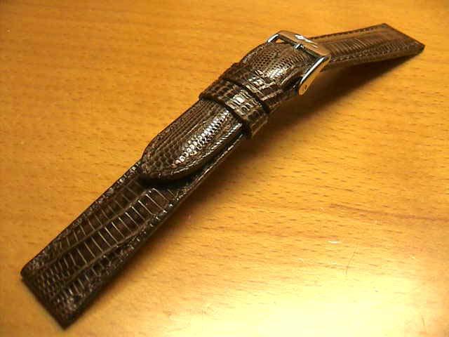 14mm時計バンド(腕時計)ベルト14ミリ リザード(トカゲ) 時計ベルト・バンド バネ棒サービス 14ミリ チョコ 腕時計用 時計ベルト 時計用バンド 525円で販売していますバネ棒をサービスでお付けします。