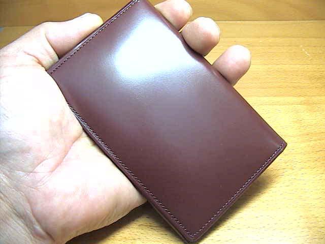 松阪牛レザー財布 SATOLI さとり 名刺入れ 葡萄 (ボルドー)