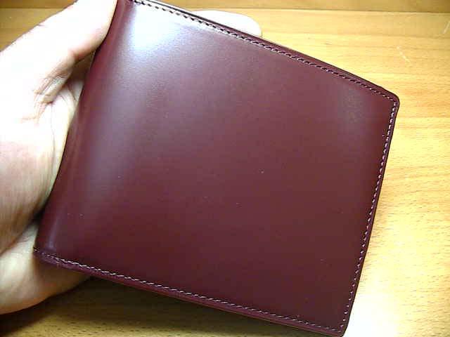 Matsuzaka cow leather wallet SATOLI Satori wallet ( 2-fold card holder type ) grapes (Bordeaux) ☆ nation-North Japan, Hokkaido, South will deliver at no shipping charge to Okinawa.