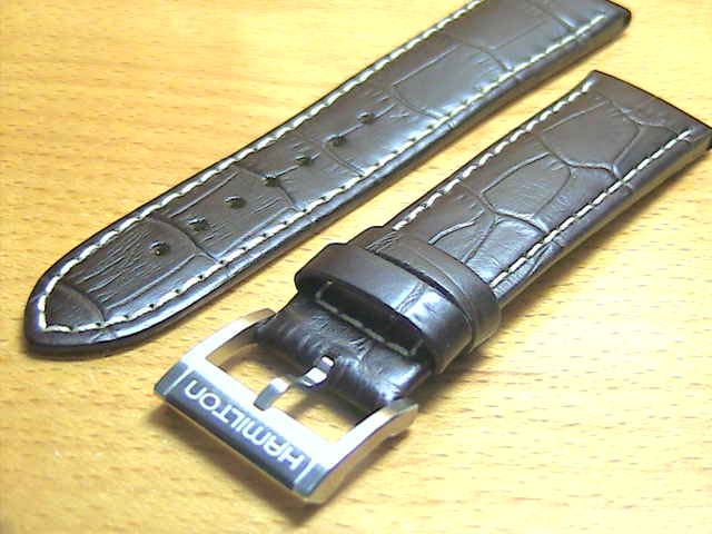 HAMILTON 재즈 마스터 용 순정 시계 가죽 밴드 가죽 벨트 다크 브라운 22mm 시계에 대해 시계 벨트 시계 밴드 H600326100