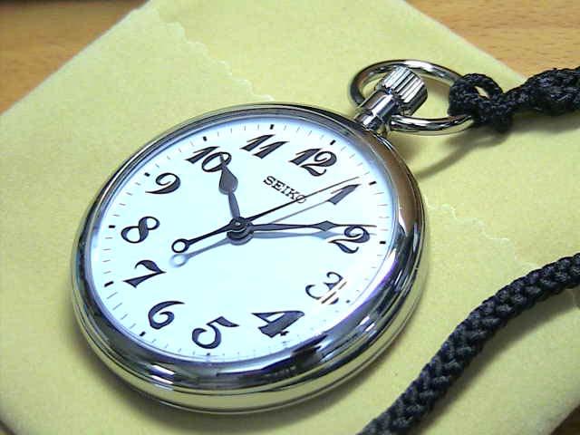 精工表 (SEIKO): 總精工鐵路手錶懷錶懷錶打開臉電池供電 (石英) SVBR001。