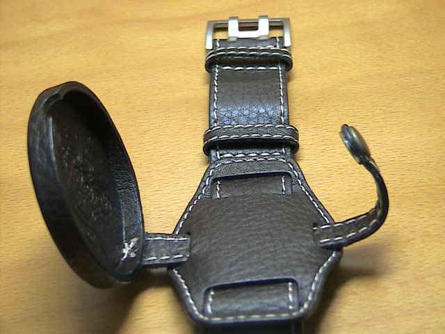 ハミルトン ベルト 時計 バンド カーキパイオニアメカ用 純正時計 革バンド レザーベルト 20mm ブラウン(茶色) ケースガードつき HAMILTON H600604103