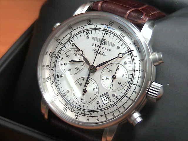 ZEPPELIN ツェッペリン腕時計 ZEPPELIN Special Edition 100 Years Zeppelin 100周年記念モデル 76181-BR クロノグラフ メンズ 【正規輸入品】