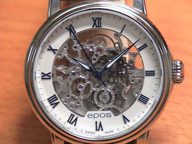 EPOS EPOS watch skeleton mechanical self-winding watch emotion 3390 SKRWH 41 mm