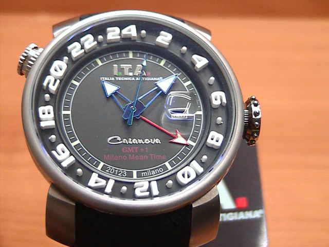 I.T.A アイティーエー 腕時計 カサノバ GMT+1 正規商品 Ref.12.60.01S