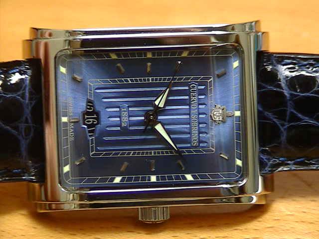 クエルボイソブリノス 腕時計 プロミネンテ クラシコ 正規商品 Ref.1015-1BS 【クエルボ・イ・ソブリノス】 無金利分割も可能です。