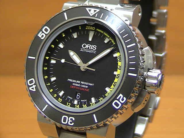 オリス 時計 腕時計 ORIS Aquis Depth Gauge アクイス デプスゲージ 腕時計 73376754154M 送料無料 正規輸入品