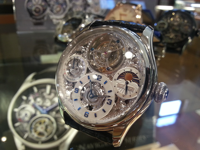メモリジン 腕時計 トゥールビヨン MEMORIGIN StarlitLegend スターリットレジェンド マニュファクチュール トゥールビヨン MO1231SSWHBKA 優美堂は分割払いもできます!