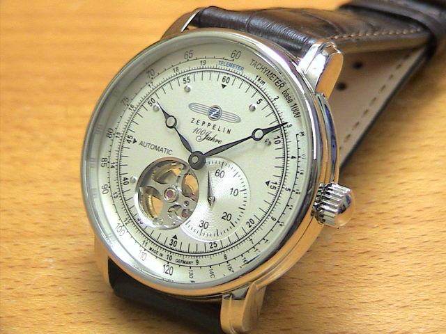ツェッペリン 腕時計 ZEPPELIN 100周年記念モデル 76621 メンズ 【正規輸入品】 セミスケルトン仕様の自動巻き最新作