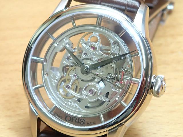 オリス アートリエ トランスルーセント スケルトン 腕時計 Oris Artelier 73476844051D 【送料無料】 【正規輸入品】