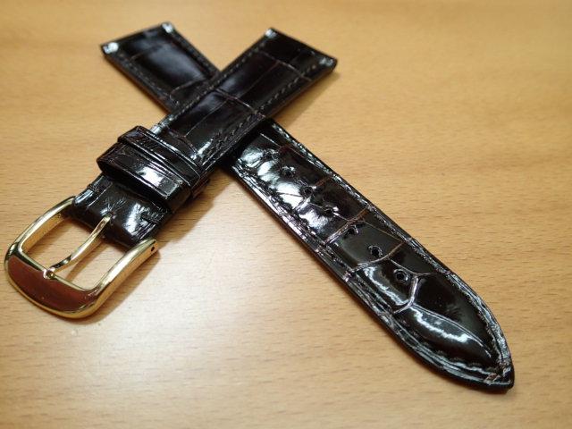 17mm~ 20mm 時計バンド (腕時計) ベルト クロコダイル ワニ チョコ (こげ茶) バネ棒 サービス 腕時計用 時計ベルト 時計用バンド 525円で販売しています バネ棒をサービスでお付けします