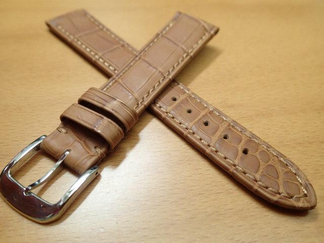 18mm 20mm 時計バンド (腕時計) ベルト クロコダイル ワニ 茶 (ブラウン) バネ棒 サービス 腕時計用 時計ベルト 時計用バンド 525円で販売しています バネ棒をサービスでお付けします