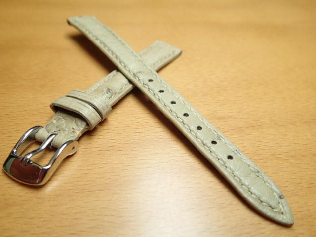 12mm 14mm 時計バンド (腕時計) ベルト オーストリッチ (ダチョウ) アイボリー バネ棒 サービス 腕時計用 時計ベルト 時計用バンド 525円で販売していますバネ棒をサービスでお付けします