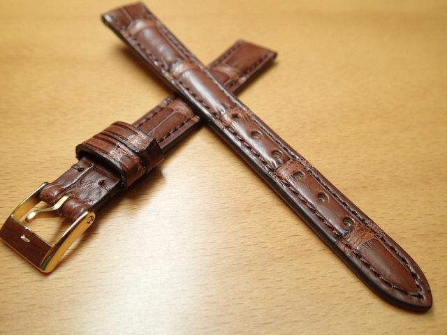 12mm 時計バンド (腕時計) ベルト アリゲーター (ワニ) ダークブラウン バネ棒 サービス 腕時計用 時計ベルト 時計用バンド 525円で販売していますバネ棒をサービスでお付けします