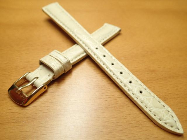 12mm 時計バンド (腕時計) ベルト アリゲーター (ワニ) ベージュ バネ棒 サービス 腕時計用 時計ベルト 時計用バンド 525円で販売していますバネ棒をサービスでお付けします