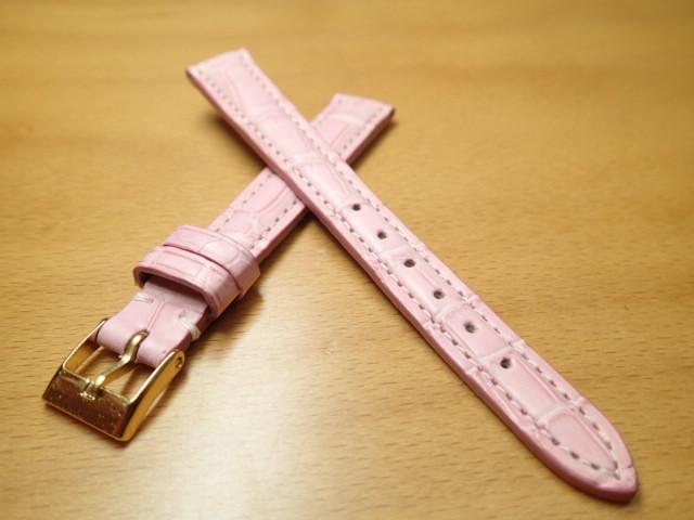 12mm 時計バンド (腕時計) ベルト アリゲーター (ワニ) ピンク バネ棒 サービス 腕時計用 時計ベルト 時計用バンド 525円で販売していますバネ棒をサービスでお付けします
