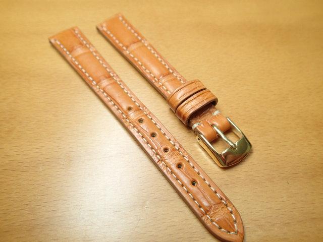 12mm 時計バンド (腕時計) ベルト アリゲーター (ワニ) ハニー バネ棒 サービス 腕時計用 時計ベルト 時計用バンド 525円で販売していますバネ棒をサービスでお付けします