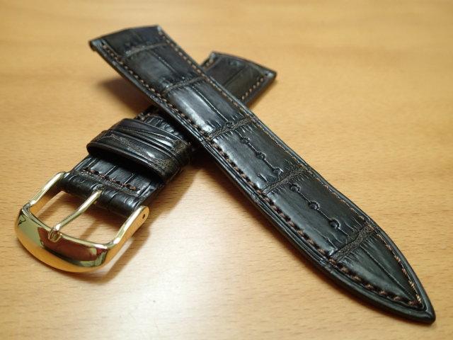 22mm 24mm 時計バンド (腕時計) ベルト クロコダイル ワニ チョコ (こげ茶) バネ棒 サービス 腕時計用 時計ベルト 時計用バンド 525円で販売していますバネ棒をサービスでお付けします