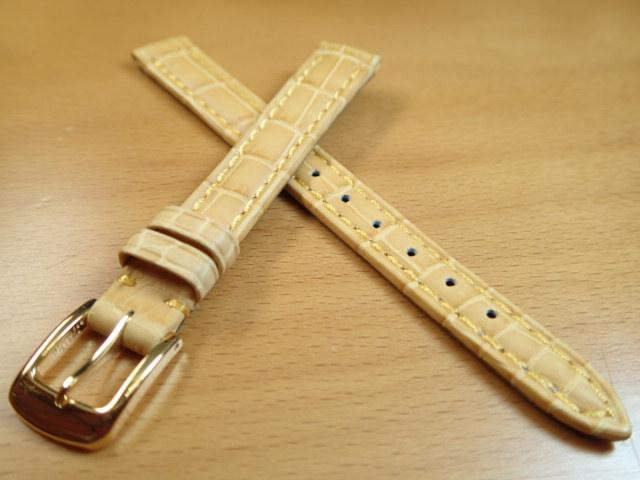 12mm 14mm 時計バンド (腕時計) ベルト クロコダイル ワニ イエロー (黄) バネ棒 サービス 腕時計用 時計ベルト 時計用バンド 525円で販売しています バネ棒をサービスでお付けします