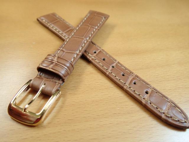 12mm 14mm 時計バンド (腕時計) ベルト クロコダイル ワニ 茶 (ブラウン) バネ棒 サービス 腕時計用 時計ベルト 時計用バンド 525円で販売しています バネ棒をサービスでお付けします:e-優美堂店