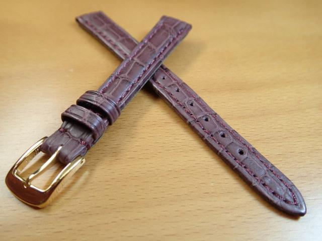 12mm 14mm 時計バンド (腕時計) ベルト クロコダイル ワニ ワイン バネ棒 サービス 腕時計用 時計ベルト 時計用バンド 525円で販売しています バネ棒をサービスでお付けします