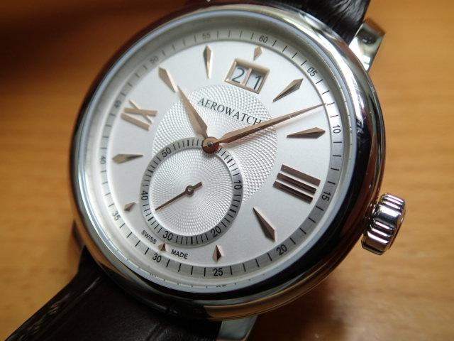 アエロ ウォッチ ビッグデイト 腕時計 A41937AA03 AERO WATCH Collection Renaissance Big DateAERO WATCH アエロ ウォッチ★日本全国=北は北海道、南は沖縄まで送料0円 【送料無料】でお届けけします