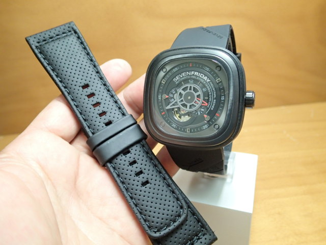 SEVENFRIDAY セブンフライデー 腕時計 インダストリアルエンジン 正規輸入商品 Ref.P3-1【ラバーバンドつき】セブンフライデーはメーカー保証2年付の正規代理店商品になります。