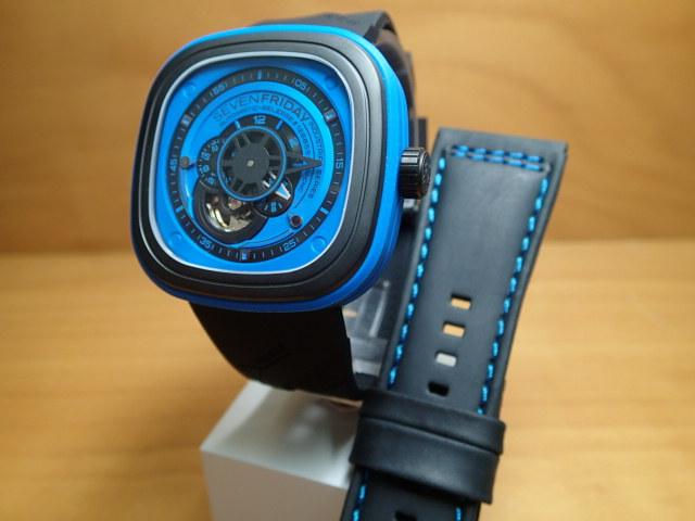 SEVENFRIDAY セブンフライデー 腕時計 インダストリアルエッセンス ブルー 正規輸入商品 Ref.P1-4【ラバーバンドつき】セブンフライデーはメーカー保証2年付の正規代理店商品になります。