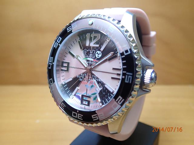 3H トレアッカ 腕時計 M1.ROSA 52mm 機械式腕時計 正規輸入品