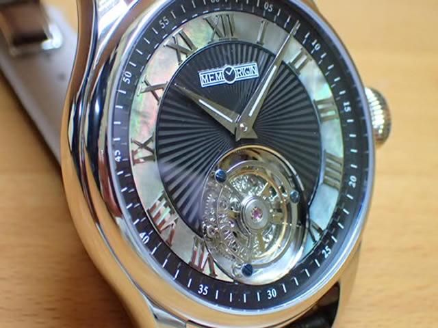 メモリジン 腕時計 トゥールビヨン MEMORIGIN Orbit 自動巻き式 オートマチック マニュファクチュール トゥールビヨン AT0221SSBKBKR 優美堂は分割払いもできます!