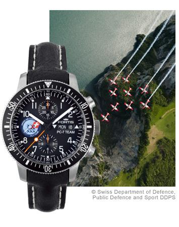 フォルティス 腕時計 PC-7チーム クロノグラフ 世界限定250本 Ref.638.10.91
