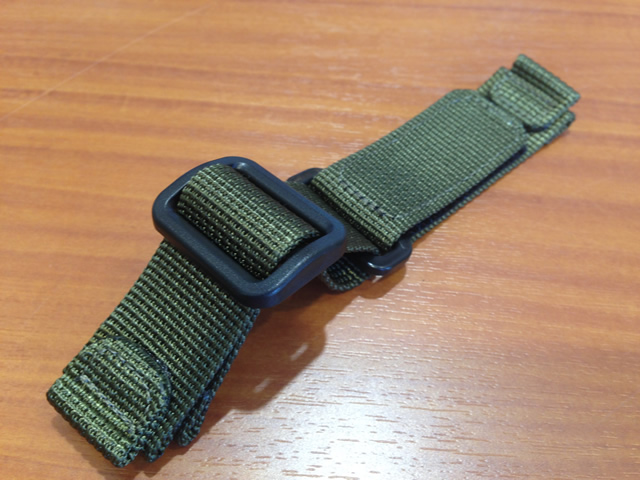 9a966063a7fe0 WENGER watch Wenger nylon watch band watch belt and 20 mm and is green and  regular ...