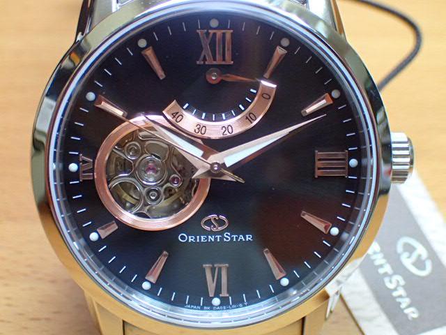 オリエントスター ORIENT 腕時計 ORIENTSTAR オリエントスター プレステージショップ限定モデル セミスケルトン 機械式 自動巻き (手巻き付き) ブラウン WZ0181DA メンズ 革バンド(替えバンド)つき