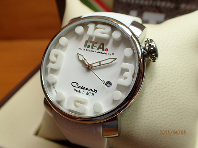 ITA アイティーエー 正規商品 腕時計はメーカー保証2年の正規商品です人気シリーズ「カサノバ・ビーチ」のミニサイズ 腕時計 カサノバ・ビーチ Ref.19.03.01優美堂のI.T.A ミディ
