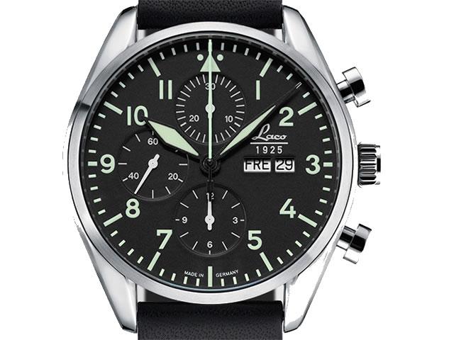 ラコ 腕時計 Laco クロノグラフウォッチシリーズ Kiel キエル 自動巻き 861715優美堂のLaco ラコ腕時計はメーカー保証2年つきの正規販売店商品です。