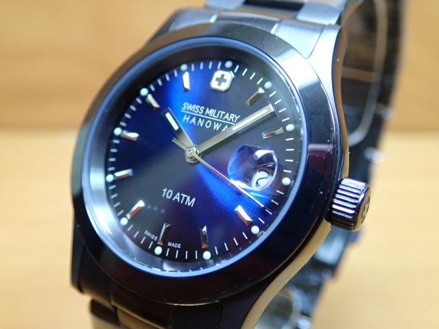 スイスミリタリー 腕時計 BLACK エレガント・ブラック ML186 メンズ 【安心の正規輸入品】