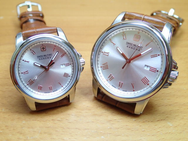 SWISS MILITARY ペアウォッチ スイスミリタリー 腕時計 ROMAN ローマン ML381-ML383 ペアウオッチ 安心の正規輸入品