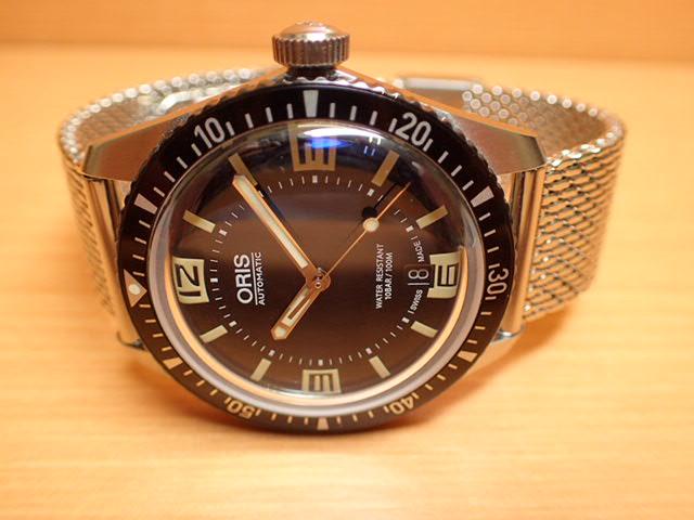 オリス 時計 Oris ダイバース 65 HERITAGE ヘリテイジ 腕時計 73377074064R 送料無料 正規輸入品 ラバーストラップとミラネーゼブレスレットつき