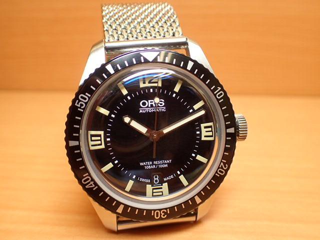 オリス 時計 Oris ダイバース 65 HERITAGE ヘリテイジ 腕時計 73377074064F 送料無料 正規輸入品 ナイロンストラップとミラネーゼブレスレットつき