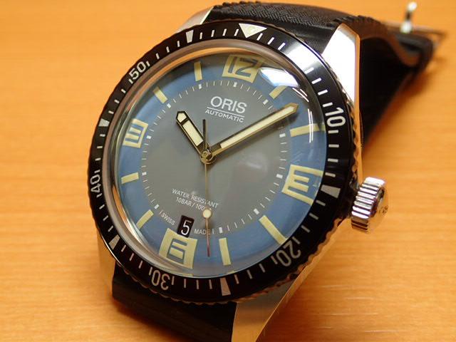 Oris オリス ダイバース 65 HERITAGE ヘリテイジ 腕時計 73377074065R【正規輸入品】ブルー ダイヤル ラバーストラップ