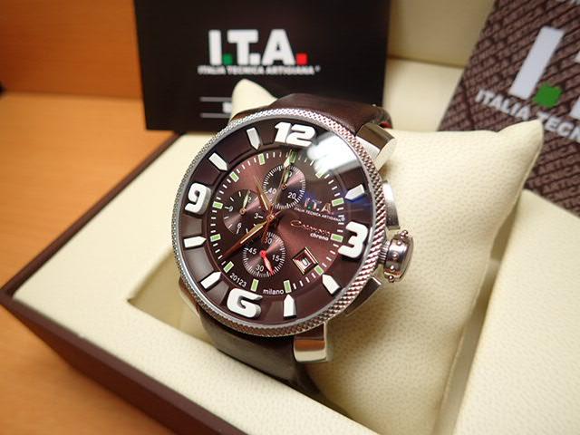 I.T.A アイティーエー 腕時計 Casanova chrono カサノバ・クロノ ブラウン文字盤 正規商品 Ref.12.70.19