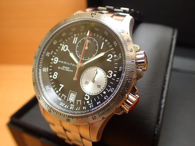 ハミルトン 腕時計 HAMILTON カーキ ETO SSブレス H77612133 【文字盤カラー ブラック】 【クオーツ】 ステンテススチールブレスレット【送料無料】