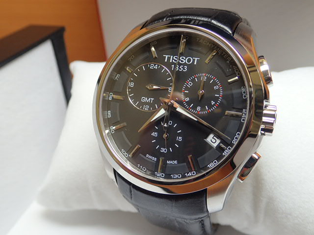 tissot beshopaholic product watches for brown leather collection tosset watch mens