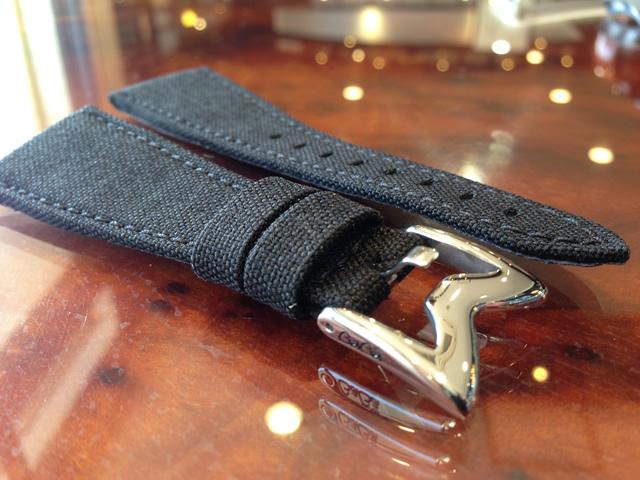 GaGa MILANO ガガミラノ 日本正規品 純正 時計バンド ベルト 48mm メンズ用 コーデュラ ベルト ブラック