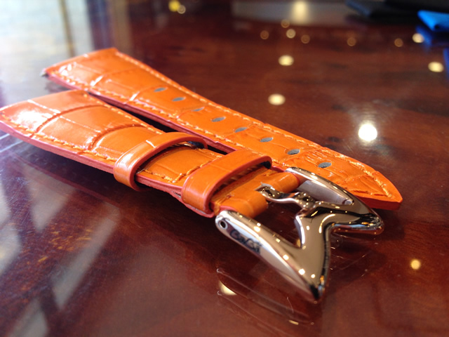 GaGa MILANO ガガミラノ 日本正規品 純正 時計バンド ベルト 48mm メンズ用 レザーベルト オレンジ