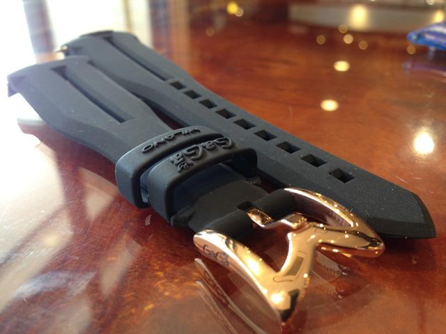 GaGa MILANO ガガミラノ 日本正規品 純正 時計バンド ベルト 48mm メンズ用 ラバーベルト ブラック