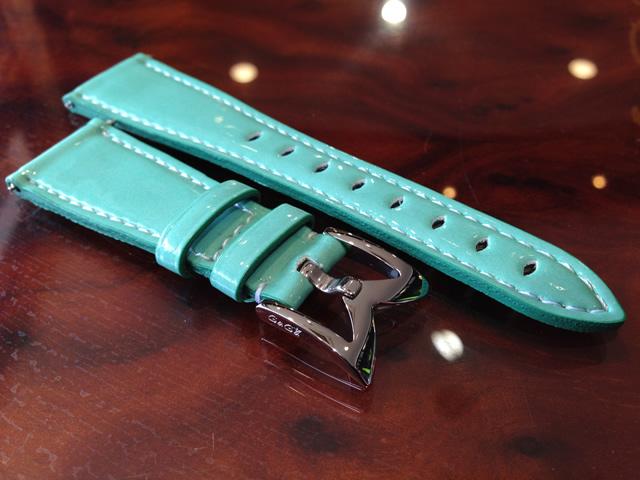 GaGa MILANO ガガミラノ 日本正規品 純正 時計バンド ベルト 40mm レディース用 エナメルベルト ターコイズブルー