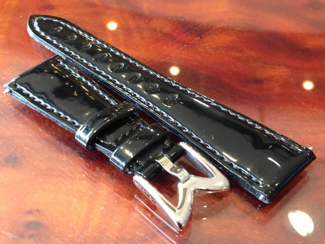 GaGa MILANO ガガミラノ 日本正規品 純正 時計バンド ベルト 40mm レディース用 エナメルベルト ブラック