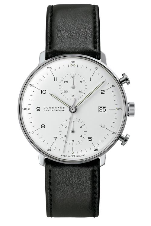 ユンハンス マックスビル バイユンハンス 腕時計 max bill by junghans chronoscope 40mm マックスビル クロノスコープ 027 4800 00 正規商品